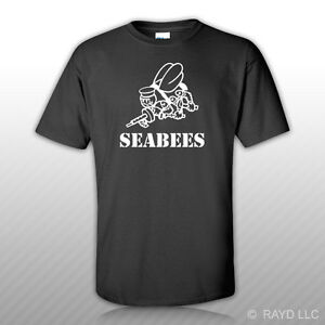 CB Seabees T-Shirt Tee Shirt united states naval construction forces ncf