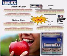2 PACK Cosmetic Upper Teeth Snap On Secure Instant Veneers Dental Natural Cover