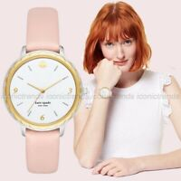 NWT 🌸 Kate Spade NY KSW1507 Scallop Pale Vellum Blush Leather Band 38mm Watch