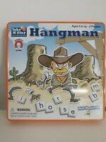 Magnetic Take n Play Anywhere Hangman game. Magnetic Pieces are great for travel