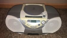 Philips CD Player Radio Cassette Recorder Boombox AZ1018 Tested Works