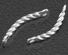 100 Twisted Bar Links - Platinum Plated  (FN009) FREE POSTAGE
