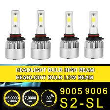 2Pair 9005 9006 Headlight Coversion LED Bulb Kit High Beam for 01-02 Mazda Miata