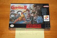 Super Castlevania IV (Super Nintendo SNES) NEW SEALED NEAR-MINT, RARE!