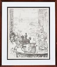 ISTVAN CSOK (1865-1961) RARE Original lithograph Zuzu 1910 Impressionist Hungary