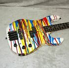 1987 USA BC Rich ST bass guitar with EMG pickups in paint drip finish & case for sale