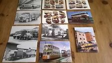 Collection of Eleven Postcards of Trams,Trucks,Bus etc.Including Black and White