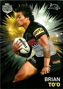 ✺New✺ 2021 PENRITH PANTHERS NRL Card BRIAN TO'O Rivalry Special Edition