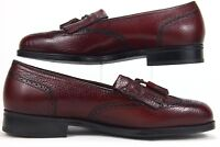 Florsheim Wingtip Burgundy Tassel Slip On Men Dress Shoe Size 8.5 3E #420646