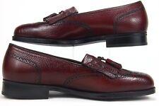 Florsheim Wingtip Burgundy Tassel Slip On Men Dress Shoe Size 8.5 3E #420646