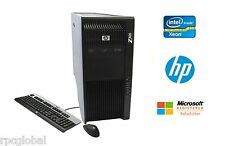 Z800 HP Workstation Intel Xeon 8 Core 64GB RAM 2TB HD DVDRW NVIDIA Win 10 Pro