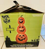 Rare Gemmy 8.7' Tall Pumpkin Stack Halloween Orange PARTS REPAIR Airblown READ