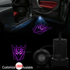 2x Car Door Transformers Decepticon Logo LED Laser Projector Ghost Shadow Light