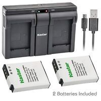 EN-EL12 Battery or USB Dual Charger for Nikon Coolpix S6200 S6300 S8000 S8100