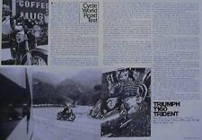 TRIUMPH 750 T160 TRIDENT Original Motorcycle Road Test Article 1975