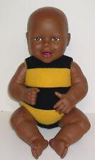 "90's Htf Anne Geddes Baby Bees 15"" Doll Brown Black Boy Smile Happy Cutie As-Is"