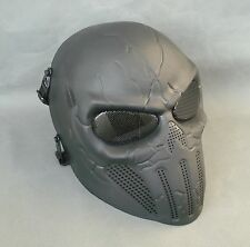 Black Airsoft Paintball ABS Full Face Protection Skull Mask Simple Practical J30