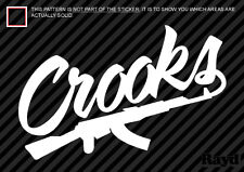 (2x) Crooks and Castles Sticker Die Cut Decal Self Adhesive ak-47 vinyl ak47