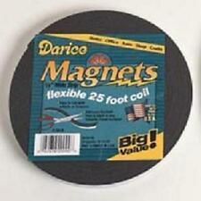 """25 Feet Flexible Craft Magnet Adhesive Back Magnetic Strip 1/2"""" wide"""