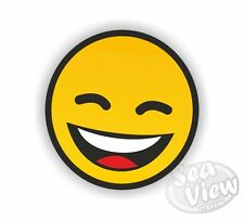 Sonrisa Cara Sonriente Amarillo Feliz Pegatina de Coche Camioneta Calcomanía Pegatinas Gracioso Pegatina