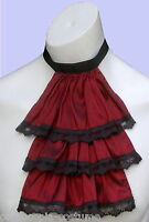 Mens JABOT / CRAVAT Victorian Regency Steampunk costume fancy dress (Burgundy)