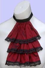 Mens JABOT / CRAVAT Victorian Regency Steampunk costume fancy dress (Burgundy)