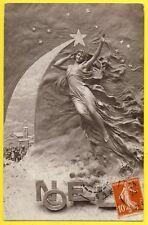 cpa Fantaisie SCULPTOBROMURE Belle Sculpture d'Argile Etoile Filante Ange NÖEL