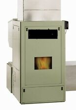 FORCED-AIR THREE CORN WOOD PELLET MULTIFUEL FURNACE STOVE, 120,000 BTU/Hr