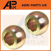 PAIR of Lower Arm Linkage Link balls Category Cat 2 Ford New Holland Tractor