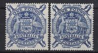 APD546) Australia 1949 £1 Arms THIN PAPER mint lightly hinged