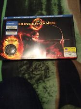 The Hunger Games (2-Disc Blu-ray) OOP Walmart Exclusive w/Mockingjay Pendant!