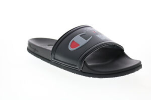 Champion Ipo Squish CP101051M Mens Black Synthetic Slides Sandals Shoes