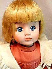 "Wimbledon Leslie Long Blonde Hair Blue Eyes Pink 14"" Porcelain Doll w/ Jump Rope"