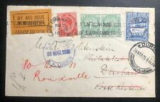 1925 Capetown South Africa Experimental Flight Airmail Cover FFC to Rouxville