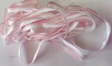 10mm Elastic White with Pink Edging x 6 metres for Undies or Dolls Clothes