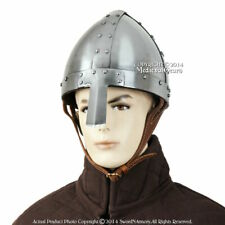 Battle Ready Spangenhelm Helmet Norman Nasal Helm Medieval Knight 16G Steel SCA
