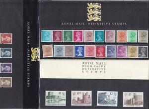 GB REGIONAL & DEFINITIVE PRESENTATION PACKS No.1 -52 1983-2000 SOLD INDIVIDUALLY