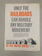 "1958 ""Only the Railroads Can Handle Any Military Movement"" St. Louis Brochure"