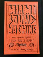 Miami sound machine Wolfgang's San Francisco 1980's original concert poster