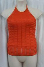 Guess Los Angeles Top Sz M Capri Kiss Orange Nola Crochet Halter Top Casual