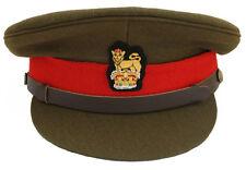 British Army Brigadier Staff Officers Peak Cap Hat Chin Strap Wire Badge Repro