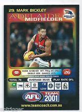 2001 Teamcoach Base Card [ 29 ] Mark BICKLEY Adelaide