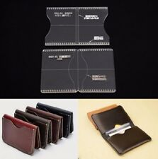 Acrylic Clear Template Handcrafting Set For Leather Wallet Bag Pattern DIY S4