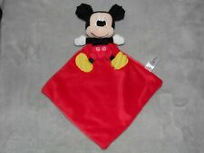 NICOTOY RED MICKEY MOUSE COMFORTER SOFT TOY BLANKIE DOUDOU
