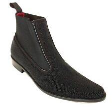 Donald J Pliner Mens New Black Beaded Italian Boot Size 8