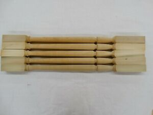 """5 New 35"""" Poplar Stair Spindles Balusters.. Table or Project . Wood Turnings"""