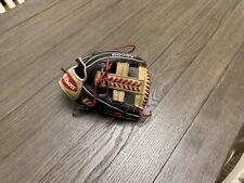 "Wilson A2000 1785 11.75"" Single Post Web Baseball Glove Black Red Camel"