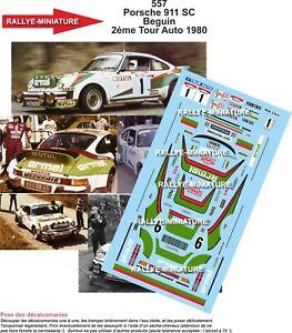 Decals 1/43 Ref 0557 Porsche 911 Crush Tour de France Auto 1980 Rally
