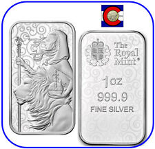 2021 Great Britain Una and the Lion 1 oz 0.9999 Silver Bar - Great Engravers