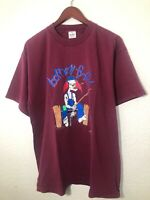 Vintage Barney Fyfe Band Tee Shirt Music 90s Clown Burgundy Murina Rare Xl